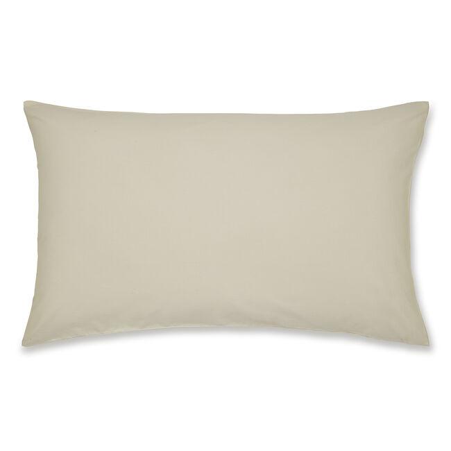 Luxury Percale Housewife Pillowcase Pair - Cream