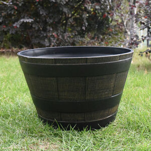 Antique Style Half Barrell Planter