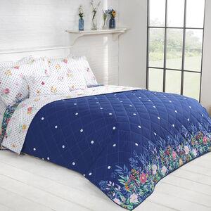Draped Floral Bedspread