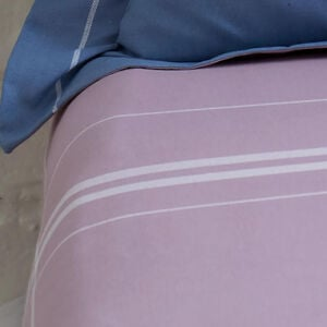 MORAN BLUE/MAUVE Single Fitted Sheet