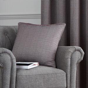 Ribbed Chenille Cushion 45x45cm - Purple
