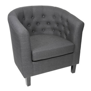 Felix Charcoal Fabric Tub Chair