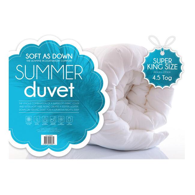 Soft as Down Lightweight Duvet Super King