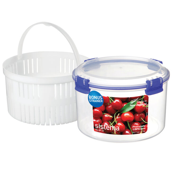 Sistema Klip It 1.5L Container with Strainer