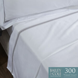 DB FLAT SHEET Triple Stitch Silver 300tc