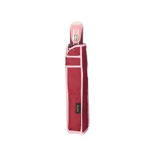 Susino Semi-Auto Compact Burgundy Umbrella w/Cover