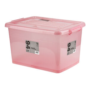 Rolling Storage Container 94L - Blush