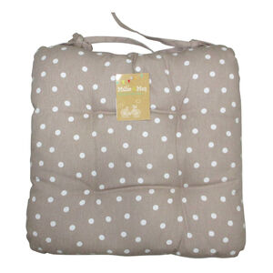 Polka Dot Kitchen Seat Pad - Natural