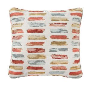 Geo Pop Aqua/Orange 45 x 45 Cushion