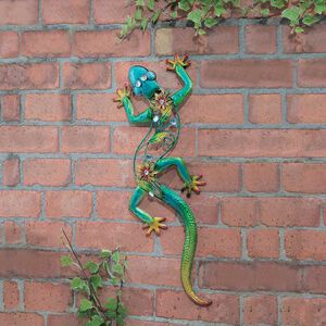 Deluxe Jewel Gecko Garden Wall Art