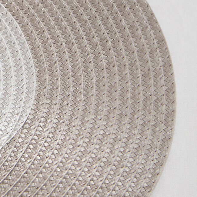 Ombre Round Woven Placemat Grey