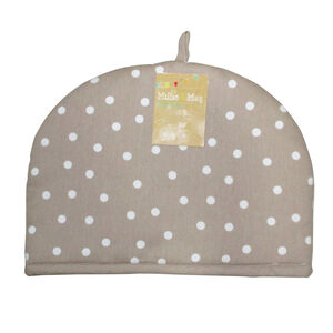 Polka Dot Tea Cosy - Natural