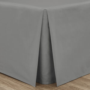 SINGLE PLATFORM VALANCE Luxury Percale Grey