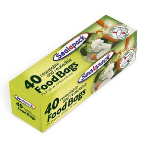 Sealapack Resealable Food Bags - 40 Pack