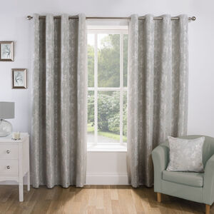 Floral Jacquard Curtain