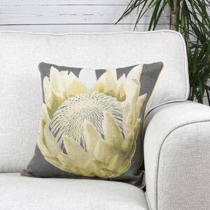 Alexa Flower Cushion Cover 45x45cm - Grey