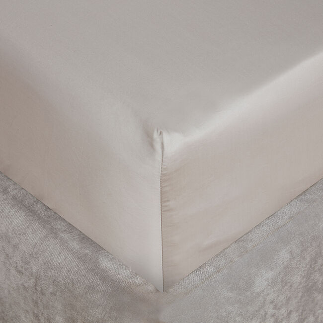SB FITTED SHEET 500 Threadcount Cotton Stone