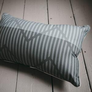 Industrial Stripe Mono Cushion 30cm x 50cm