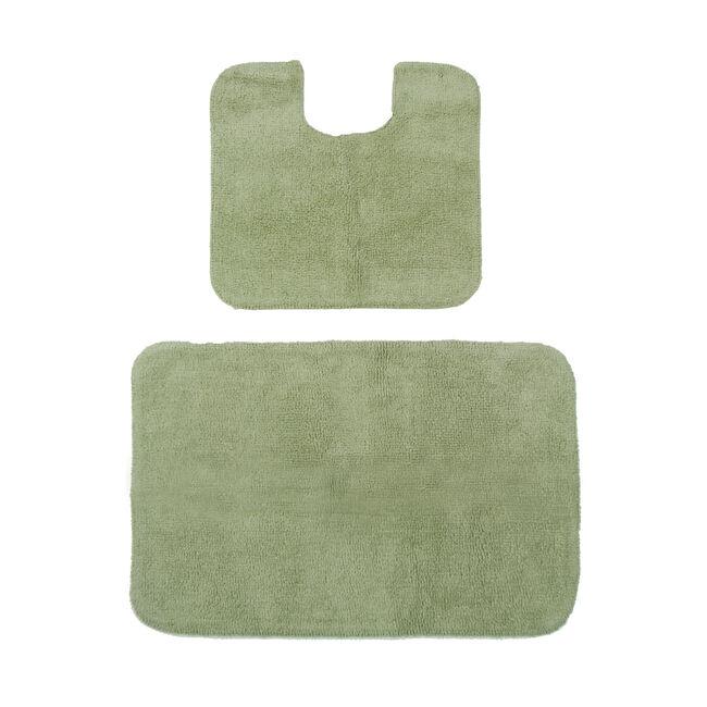 Cotton Plain Dye Green Bathroom Set