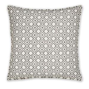 Diamond Jacquard Grey Cushion 58cm x 58cm