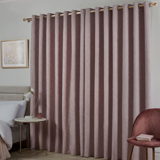 BLACKOUT & THERMAL BASKETWEAVE ROSE 66x54 Curtain
