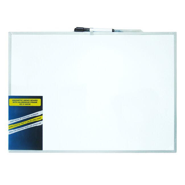 Magnetic Memo Board Aluminum Frame