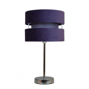 Mauve Double Tier Table Lamp