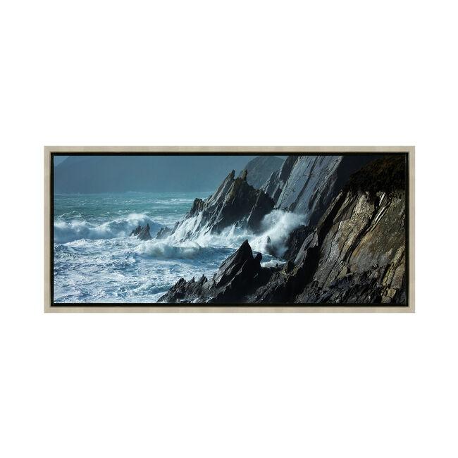 Storm Waves At Slea Head 47x108cm Framed
