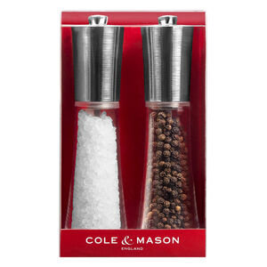 Cole & Mason Chrome Clear Salt & Pepper Mill Set