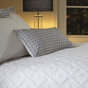 Geo White/Grey Cushion 30cm x 50cm