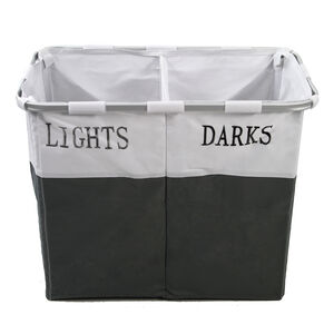 Lights & Darks Laundry Hamper