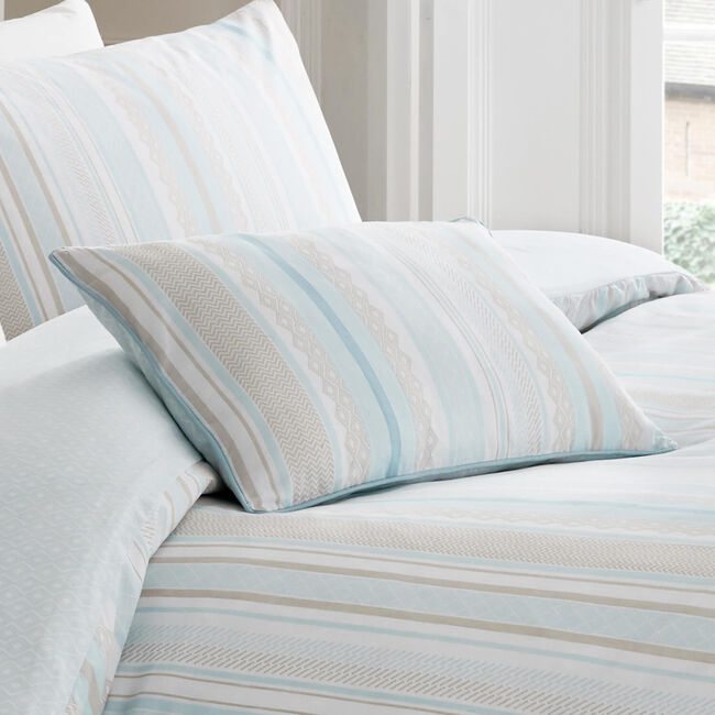 Elegant Stripe Duck Egg Cushion