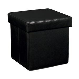 Deluxe Folding Ottoman - Black