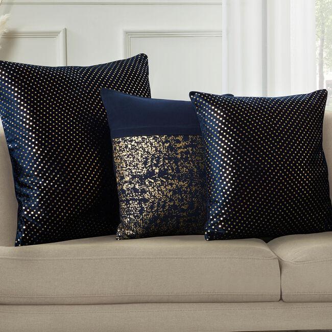 FOIL PRINT VELVET NAVY 45x45 Cushion