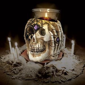 Halloween Skull Candleholder