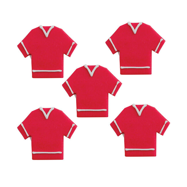 Football Shirt Cake Toppers - Red