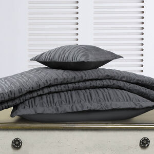 Quilted Hotel Chevron Grey Bedspread