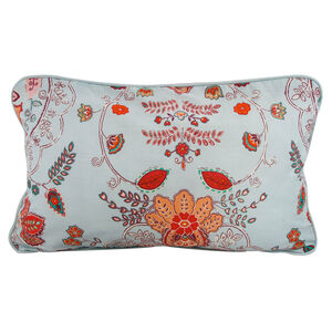 Paisley Duck Egg Cushion 30cm x 50cm