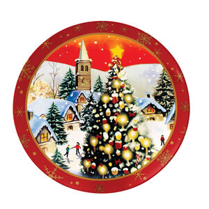 Love Christmas  Village Large Plate