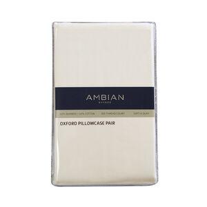 300TC Bamboo/Cotton Oxford Pillowcase Pair - Cream