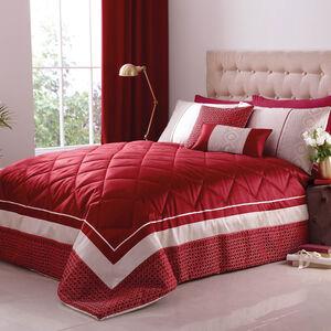 Luxury Geo Red Bedspread 220cm x 230cm