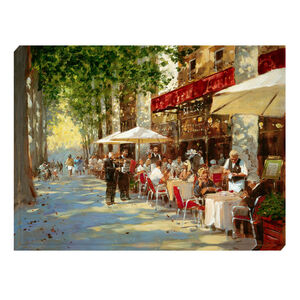 Cafe Apres Midi Canvas 60cm x 90cm