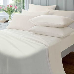 SINGLE FLAT SHEET  Flannelette Cream