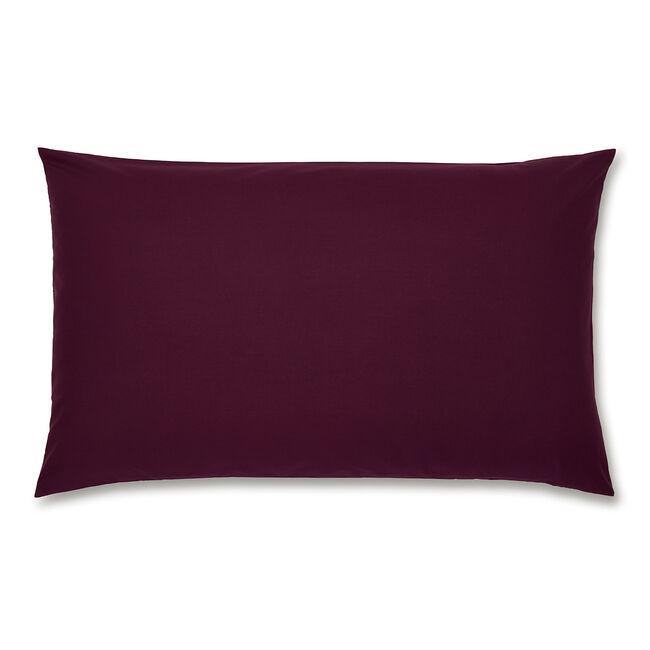 Luxury Percale Housewife Pillowcase Pair - Plum