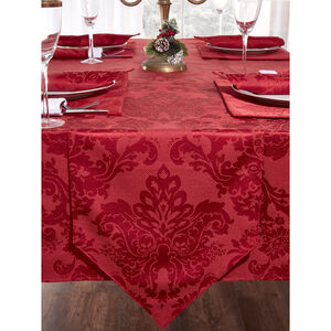 Textured Damask Table Runner 229x36cm - Red