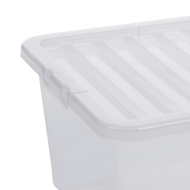 Crystal Box & Lid 45L - Clear
