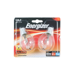 Energizer (E14) Halogen Golf Ball Bulbs 42W