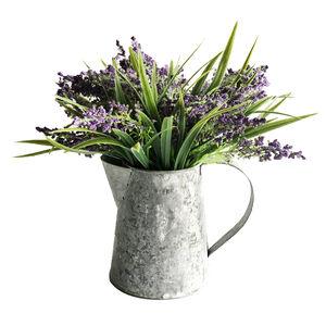 Lavender Metal Jug Planter