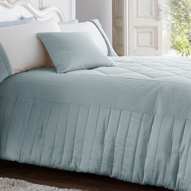 Harbron Duck Egg Bedspread 220cm x 230cm