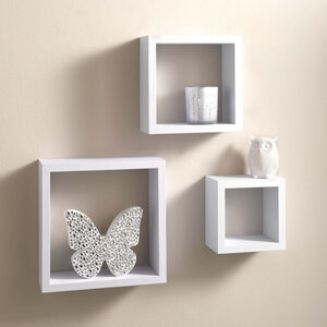 Capri 3 Set Wall Shelves White